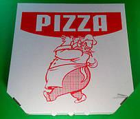 Коробка для пиццы c печатью Pizza 410Х410Х30 мм,  50 шт\уп