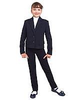 Пиджак школьный для девочки м-511 рост 158 синий