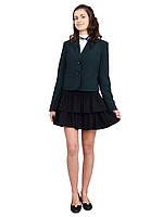 Пиджак школьный для девочки м-515  рост 116-170 зеленый, фото 1