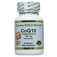 Кофермент Q10, 100мг, 30 капсул, California Gold Nutrition