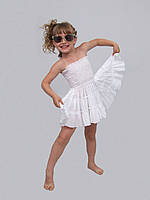 Юбка- сарафан детская  м-517 рост 128  белая, фото 1