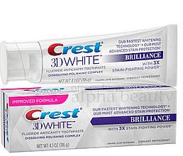 Відбілююча зубна паста, Crest 3D White Brilliance, 116г США