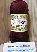Летняя акриловая пряжа ( 100% микрофибра акрил, 100г/350м) Alize Diva 57