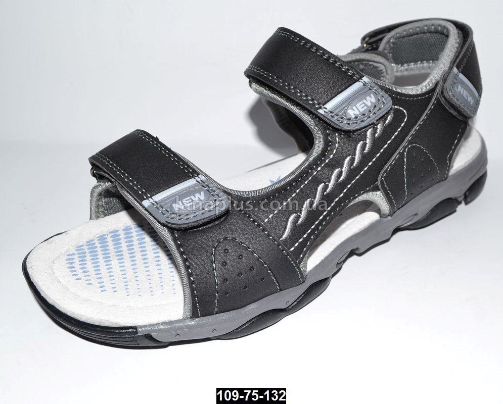 Спортивные босоножки для мальчика, 37, 39 размер, 3 липучки, подростковые сандалии