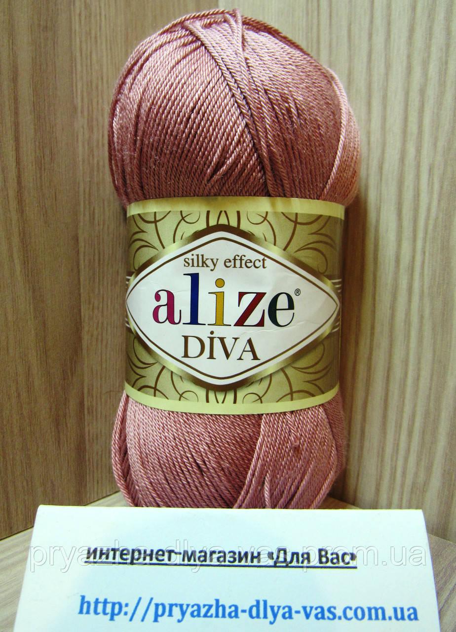 Летняя акриловая пряжа ( 100% микрофибра акрил, 100г/350м) Alize Diva 354
