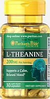 Л-Теанин, L-Theanine 100 mg, Puritan's Pride, 30 капсул