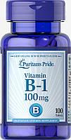Витамин В-1, Vitamin B-1 100 mg, Puritan's Pride, 100 таблеток