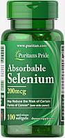 Селен, Selenium 200 mcg, Puritan's Pride, 100 капсул