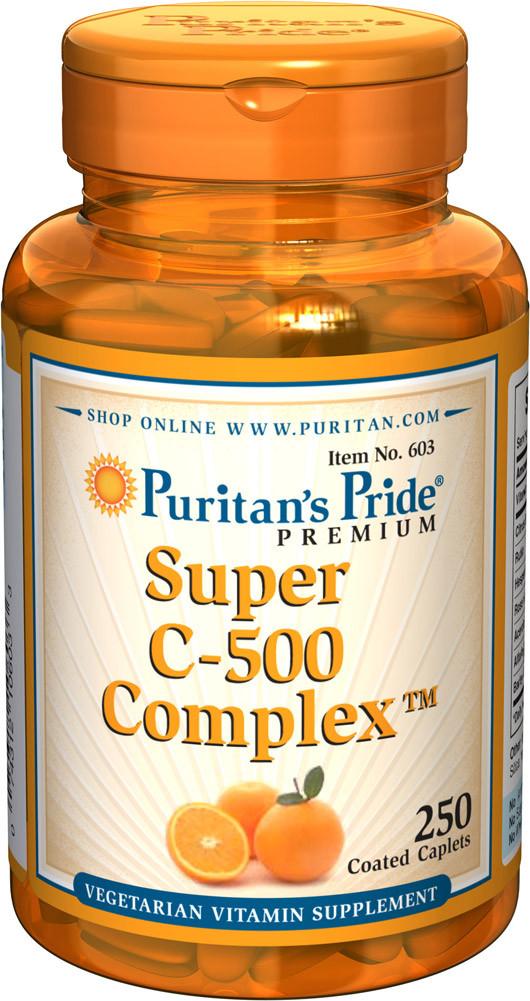 Витамин С комплекс, Vitamin C-500 Complex, Puritan's Pride, 250 таблеток