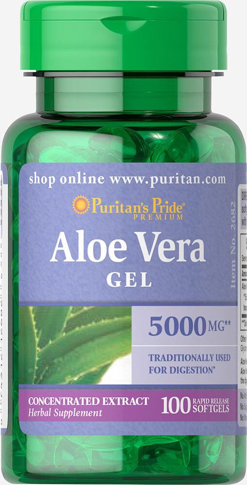 Алоэ Вера экстракт, Aloe Vera Extract 25 mg, Puritan's Pride, 100 капсул