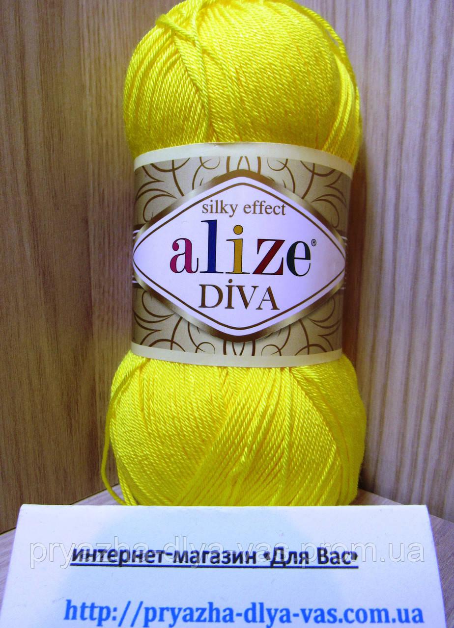 Летняя акриловая пряжа ( 100% микрофибра акрил, 100г/350м) Alize Diva 110