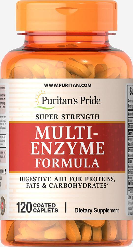 Комплекс сильных ферментов, Super Strength Multi Enzyme, Puritan's Pride, 120 капсул