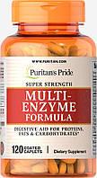 Комплекс сильных ферментов, Super Strength Multi Enzyme, Puritan's Pride, 120 капсул, фото 1