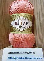 Летняя акриловая пряжа ( 100% микрофибра акрил, 100г/350м) Alize Diva 145