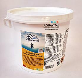 Все–в–одному мульти–таблетки Chemoform 200 гр / Аквакомплекс по догляду за водою / 5 кг