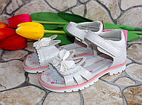 Летние детские босоножки для девочки - Зайки - 27 размер