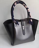 Стильная женская черная  вместительная сумка