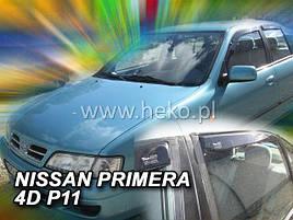 Дефлекторы окон (ветровики)  NISSAN PRIMERA - P 11 1996r-2002r SEDAN(HEKO)
