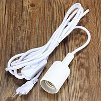 Подвесной светильник Е27 белый 1м, с выключателем и вилкой, фото 1