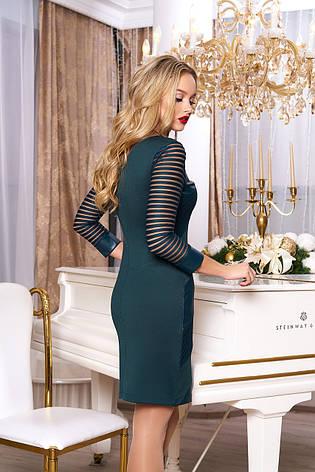 """Стильное женское платье """"Рио"""" (зеленый), фото 2"""