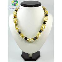 Эксклюзивное ожерелье с Агату, Изысканное ожерелье из натурального камня, Украшение из Агату