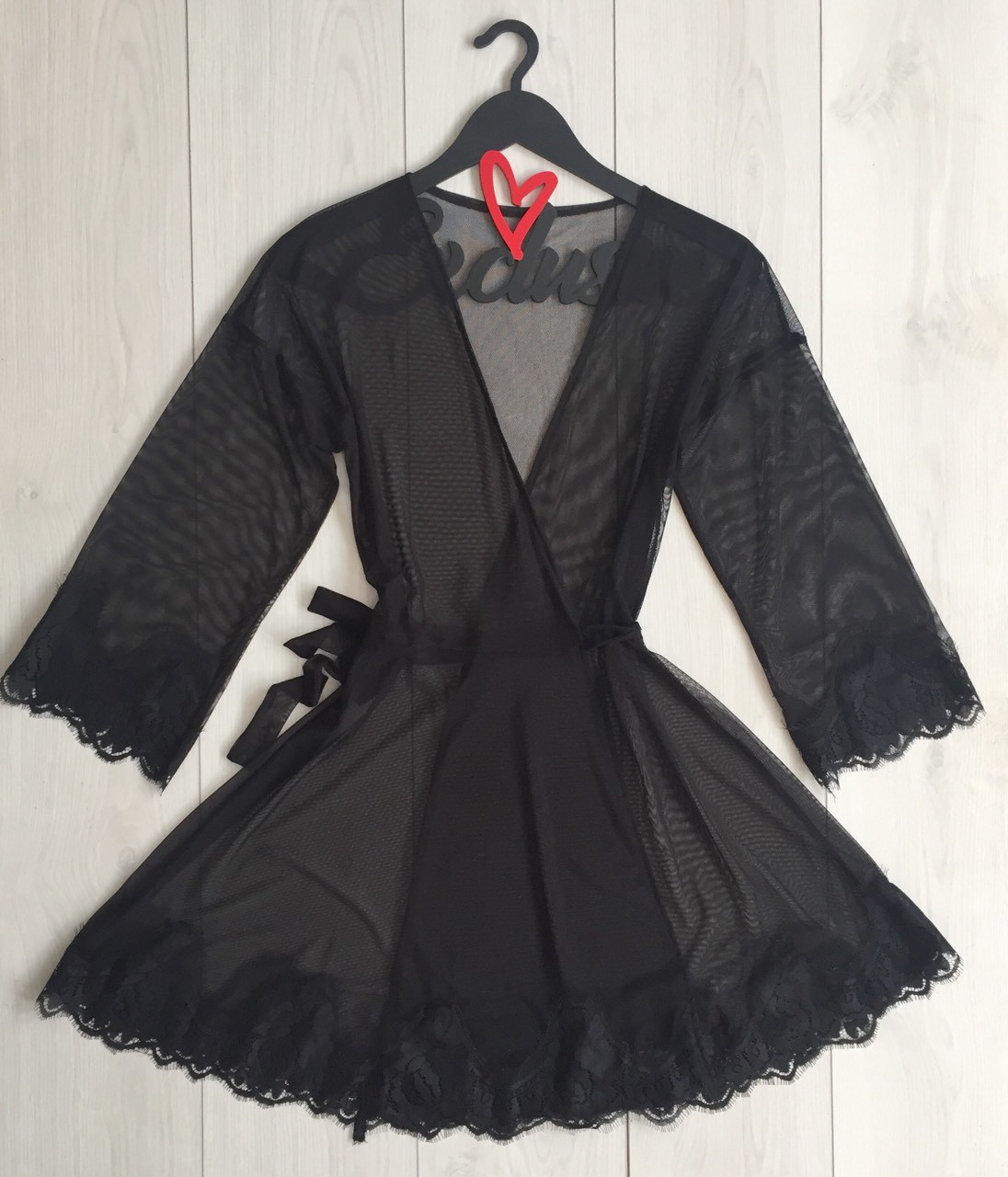 Черный соблазнительный женский халат ТМ Exclusive