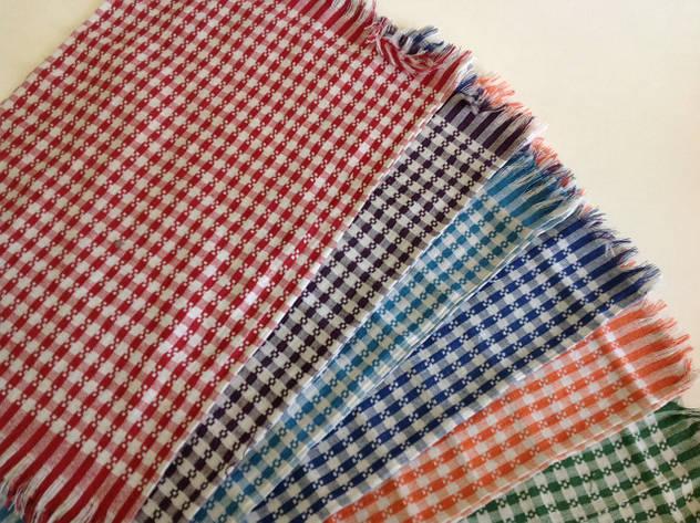 Кухонное полотенце лен с бахромой 60/38 см, фото 2