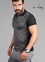 Мужская серая рубашка-поло , фото 1