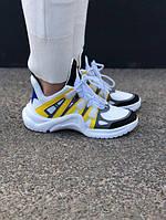 Женские кроссовки Louis Vuitton Yellow (Реплика)