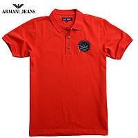 Футболка мужская поло Armani-172 красная