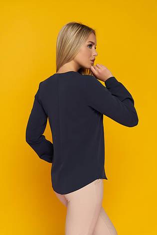 """Свободная блуза """"Дороти"""" со стильным галстуком (темно-синяя), фото 2"""