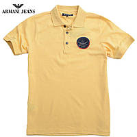 Футболка мужская поло брендовая Armani-172 желтая