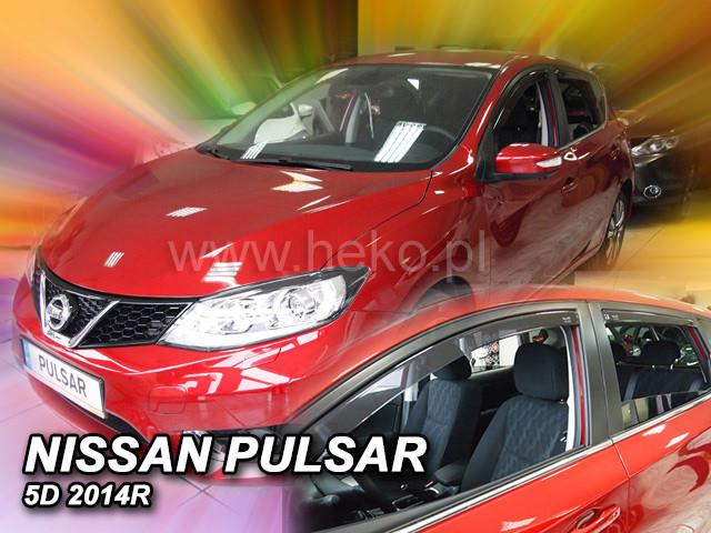 Дефлекторы окон (ветровики)  NISSAN Pulsar 2014r-> (HEKO)