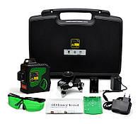 Зелёные лучи лазерный уровень (нивелир) Clubiona 3D Green 12 линий 360 градусов, фото 1