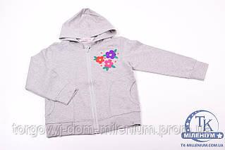 Кофта для девочки трикотажная (цв.серый) Kidos 56Gess/1 Рост:122