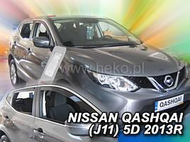 Дефлекторы окон (ветровики)  NISSAN Qashqai J11 2013->(HEKO)