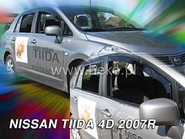 Дефлекторы окон (ветровики) NISSAN TIDA (SEDAN) 2007r ->(HEKO)