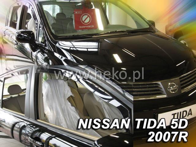 Дефлекторы окон (ветровики)  NISSAN TIDA HTB 2007r->(HEKO)