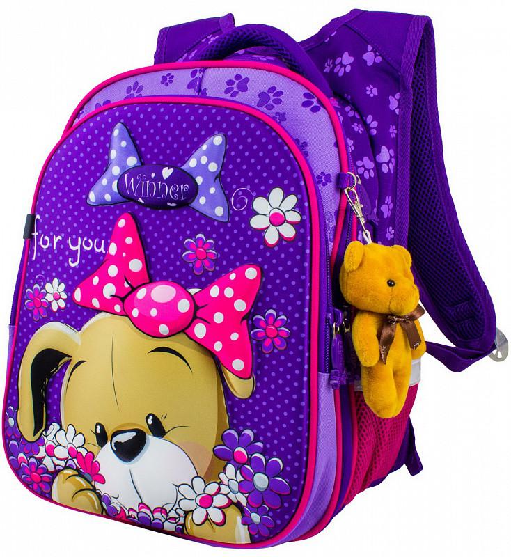 948f6d0ba440 Ранец школьный рюкзак детский для девочек фабричный ортопед Winner Stile  8004 - Манчестер в Харькове