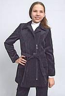Пальто из вельвета для девочки м-563  рост 146 152, фото 1