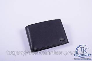 Кошелёк-зажим мужской кожаный (color.bleck nc) размер 11/8 см. ALFA RICCO AR8385