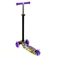 Самокат MAXI Best Scooter 3 колеса свет 50кг Фиолетовый (А 24646 /779-1390), фото 1