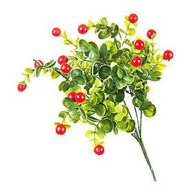 Искуственный цветок ветка с ягодами 33 см  048FW