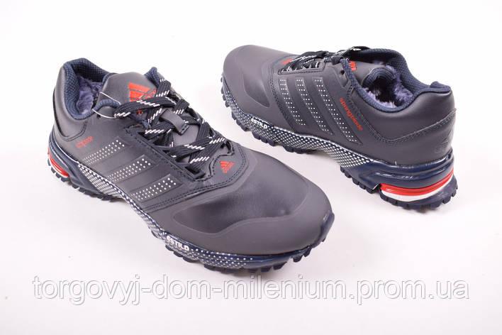 Кроссовки мужские на меху с кожаными вставками  Adidas U248-5 Размер:41,44, фото 2