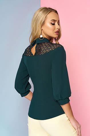 """Элегантная женская блузка в классическом стиле """"Роуз"""" (цвет - бутылка), фото 2"""