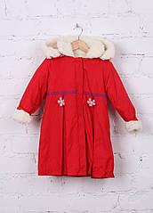 Пальто для девочки Клубничка