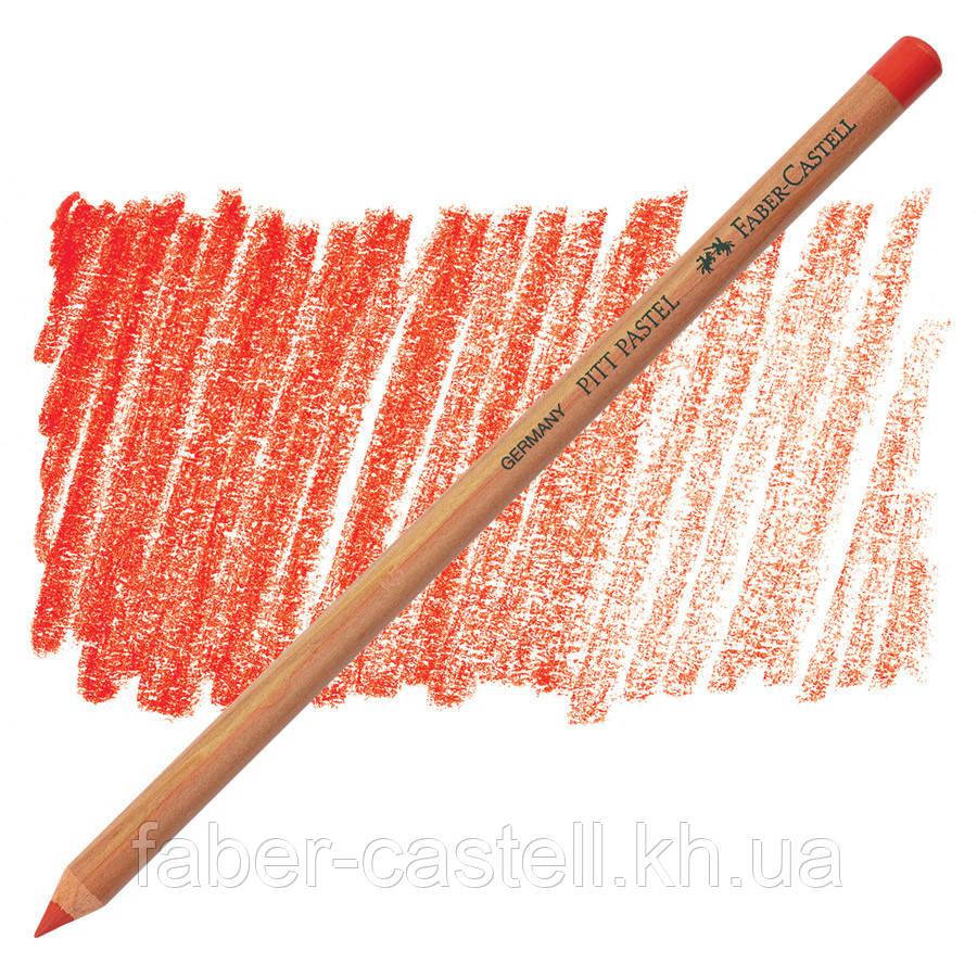 Пастельний олівець Faber-Castell PITT яскраво - червоний ( scarlet red ) № 118 , 112218