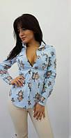 Рубашка женская льняная  костр7786, фото 1