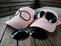 Бейсболка, кепка женская очки цвет розовый, фото 1