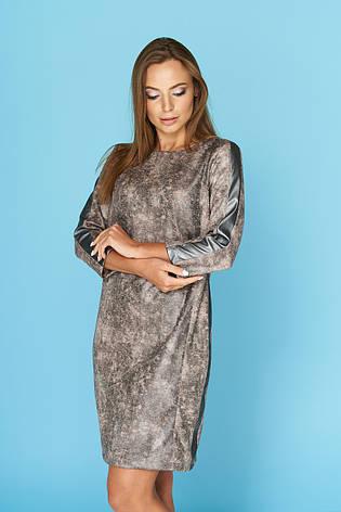 """Женское платье """"Каприз"""" на каждый день (графит, размер M), фото 2"""
